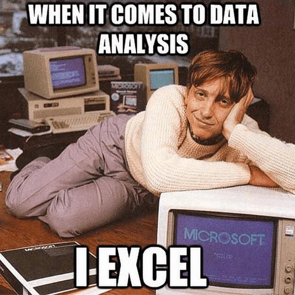 Data analysis meme
